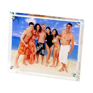 "11"" x 9"" Hypoteneuse Sublimation Blank Glass Photo Frame"