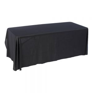 6ft (3) Full Length Sides Rounded Corner Dye-sublimation Table Throws (Multicolor optional)