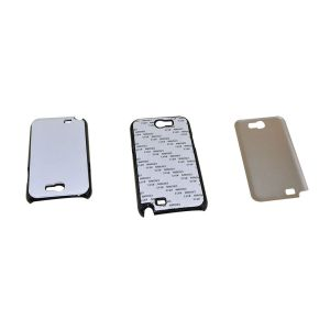3D Sublimation Samsung N7100 Blank Cell Phone Case Cover with Metal Sheet for Heat Transfer Printing