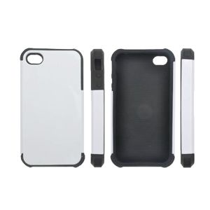 3D Sublimation Silicon IPhone 4 Blank Cell Phone Case Cover for Heat Transfer Printing