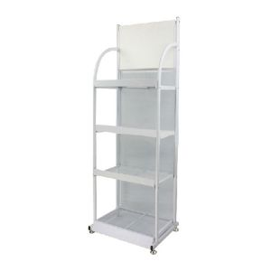 F Style Iron Literature Display Rack With 5 Pockets