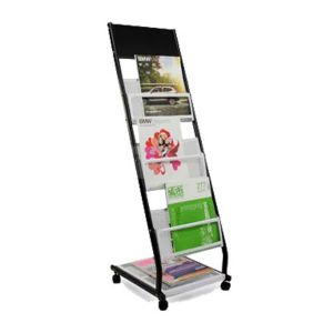 R Style Iron Literature Display Rack With 3 Pockets