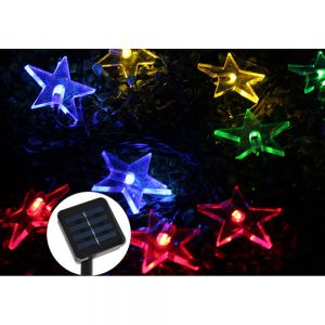 Solar Fairy String Lights 5m 20 LED Bright Star Decorative for Garden Party Xmas