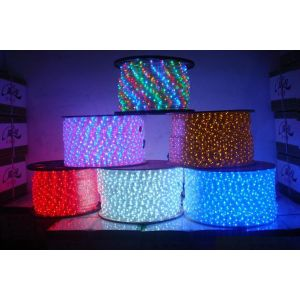AC110V/220V High Voltage Rainbow Tube LED Rope Lights with Flat Five Lines 108 LEDs/M, 100m(328ft)/roll/pack