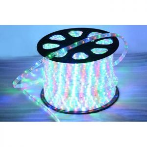 AC110V/220V High VoltageRainbow Tube LED Rope Lights with Flat Three Lines 72 LEDs/M, 100m(328ft)/roll/pack