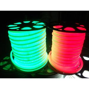 Mini AC110V/220V Waterproof Flexible LED Neon Rope Light with 120leds/m SMD 2835 LED 12W/M IP65, 50m(164ft)/Roll/Pack