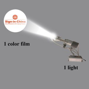 20W Rotary Ring Pattern Scanning LED Advertising Logo Projector Light (1 Light + 1 Single Color Film)