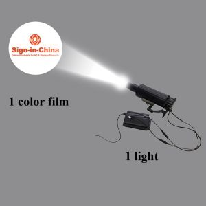 55W LED Rotating and Static Adjustable Gobo Advertising Logo Projector Light (1 Light + 1 Single Color Film)