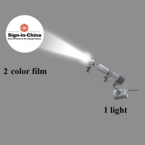 20W Pattern Rotary Linear <Swing> Scan LED Advertising Logo Projector Light  (1 Light + 1 Two Colors Film)
