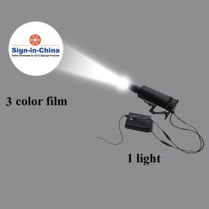 55W LED Rotating and Static Adjustable Gobo Advertising Logo Projector Light (1 Light + 1 Three Colors Film)