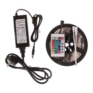 3528 Non-Waterproof RGB Colourful Strip + 24 Key Remote Control + 2A Transformer