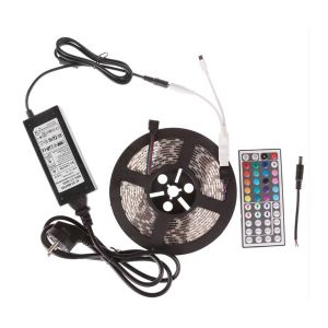 5050 Waterproof RGB Strip + 44 Key Remote Control + 6A Transformer