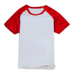 Sublimation Blank Polyester T-Shirt Raglan with Sleeve Colorful for Women
