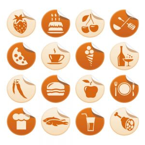 Big Coffee and Cake Vector Flat Icon Set (Free Download Illustrations)