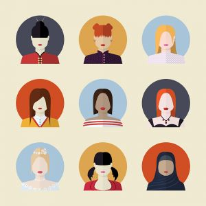Hair StyleS in Different Women Characters Vector Stock Set Illustrations (Free Download Illustrations)