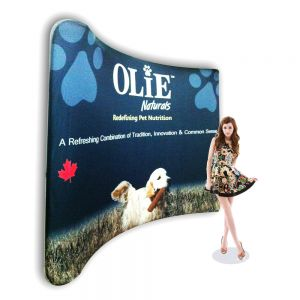 10ft Curved NEW Version Pop Up Display Backwall