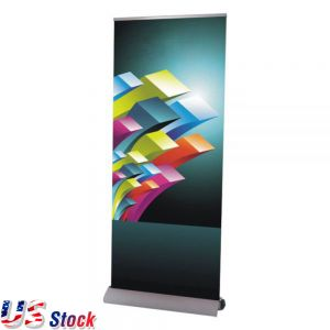 "Clearance Sale! US Stock-High Quality Dismountable Base Roll Up Banner Stand (33"" W x 95"" H) (Stand Only)"