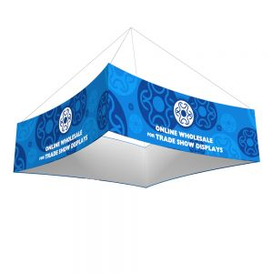12ft Ceiling Banner Display Trade Show Curved Square  Hanging Sign (Single Sided Graphic)