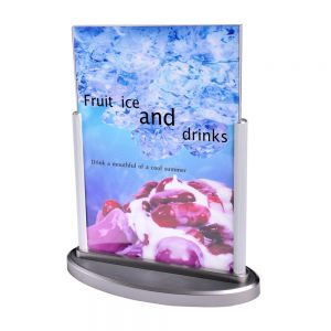 ABS Upright Sign Holders Top Load Table Tent Menu / Card Holders