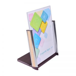 Folding ABS Sign Holders Top Load Table Tent Menu / Card Holders