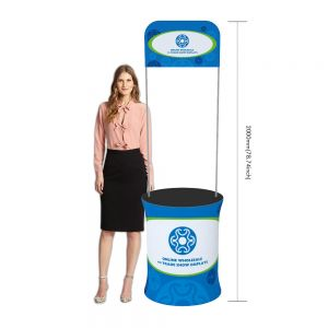 Oval Fabric Tension Promotion Counter