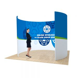 10ft O Shape Back Wall Display with Custom Fabric Graphic
