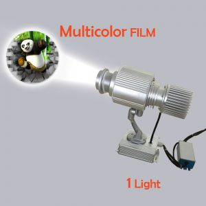 Outdoor IP65 Waterproof 10W LED Rotating Gobo Advertising Logo Projector Light (with Custom Multicolor Glass)
