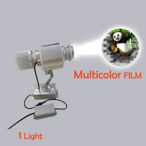 Outdoor IP65 Waterproof 20W LED Static Gobo Advertising Logo Projector Light (with Custom Multicolor Glass)