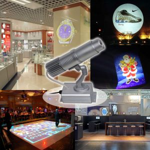 20W Desktop or Mountable LED Gobo Projector Advertising Logo Light (with Custom Multicolor Static Glass Gobos)