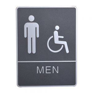 Male / Disabled, Toilet, Restroom Signs With Braille, ABS New Material