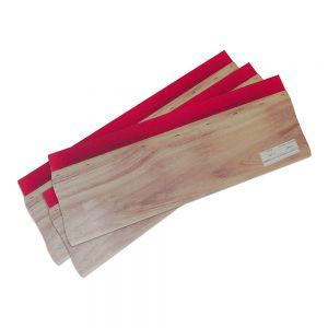 """3 pcs 13"""" (33cm) Squeegees Screen Printing Ink Scraper Wood Handle 75 Durometer"""
