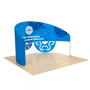 10ft C Shape Back Wall Display with Custom Sing Sided Fabric Graphic