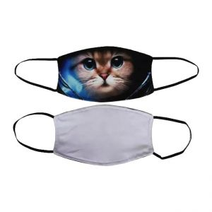 US Stock-Sublimation Blank Breathing Face Mask With Rubber Ear Loop