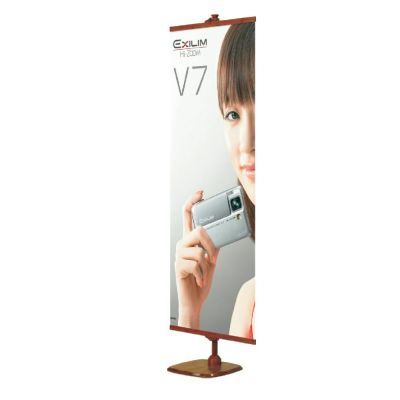 Bamboo Square Base Poster Banner Stand (Stand only)