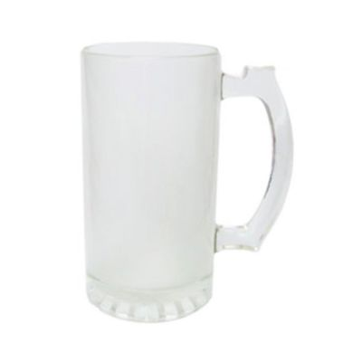 16OZ Frosted  Glass Sublimation  Bear Mug