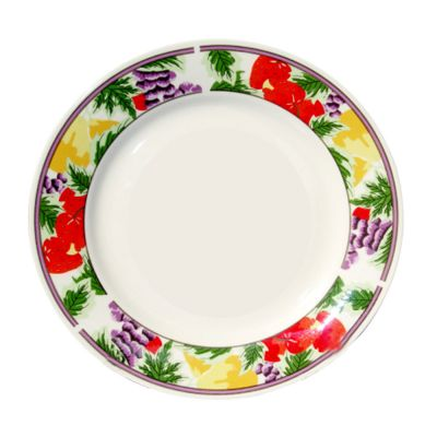 8 Inch Sublimation Ceramic Plate With Graphic Rim