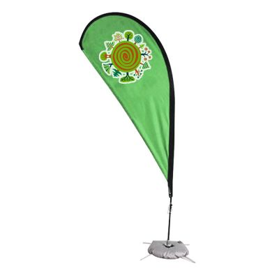 11.5 ft Teardrop Banner with Cross Water Bag Base (Double Sided Printing)