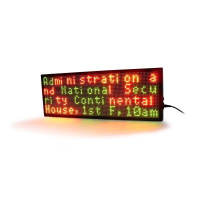 "40"" x 11"" Semi Outdoor 4 Lines LED Scrolling Sign(Tricolor or Single Color)"