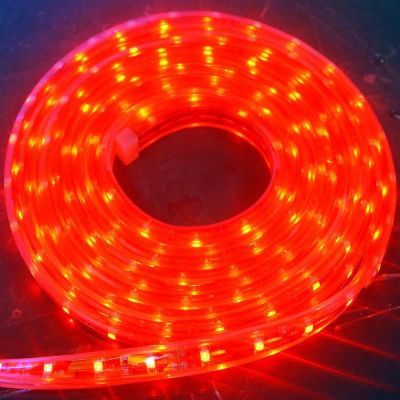 Red Color Flexible LED Light Strip(120 SMD 3528 leds per meter waterproof IP66) 5m/roll
