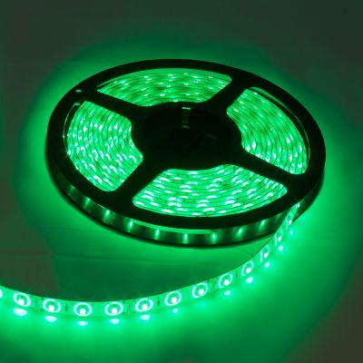 Green Color Flexible LED Light Strip(120 SMD 3528 leds per meter waterproof IP65) 5m/roll