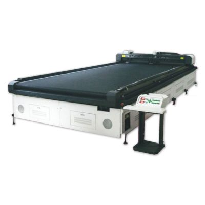 "126"" x 315"" (3200mm x 8000mm) Large Size Flatbed Laser Cutter, Outdoor Industrial Fabric Cutting, with Metal laser"