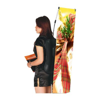 "Backpack X Banner Stand with Full Color Digitally Printed Graphics(17.7""W x 47.2""H)"