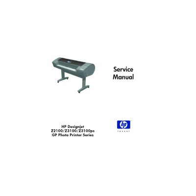 HP DesignjetZ2100 Z3100 Z3100PS Plotter English Service Manual (Direct Download)