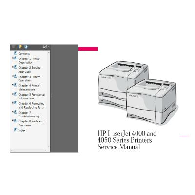 hp laserjet 4000 and 4050 series printers service parts manual