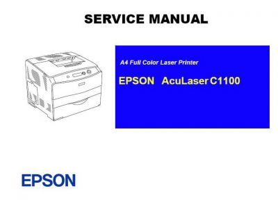 EPSON AcuLaser C1100 Colored Laser Printer English Service Manual