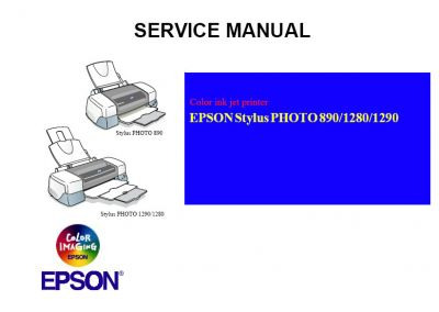 EPSON Stylus Photo 890 1280 1290 Printer English Service Manual (Direct Download)