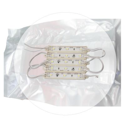 SMD 3528 Waterproof LED Module (3 LEDs, White Light, 0.3W, L74 x W12mm, 1 Pack/100pcs)