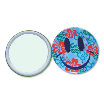 1000pcs 75mm Mirror Button with Plastic Ring