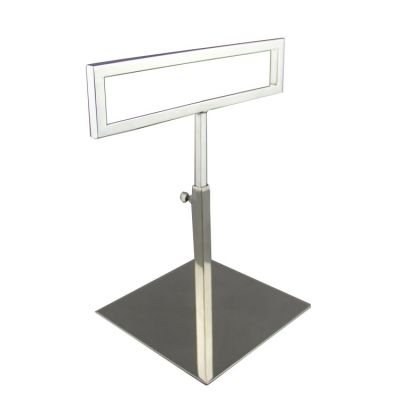 Silver scarf display stand