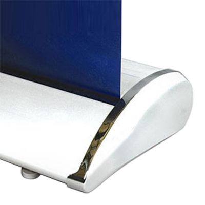 "33"" W x 79"" H Economy Silver Broad Base Roll Up Banner Stand  (Stand Only)"